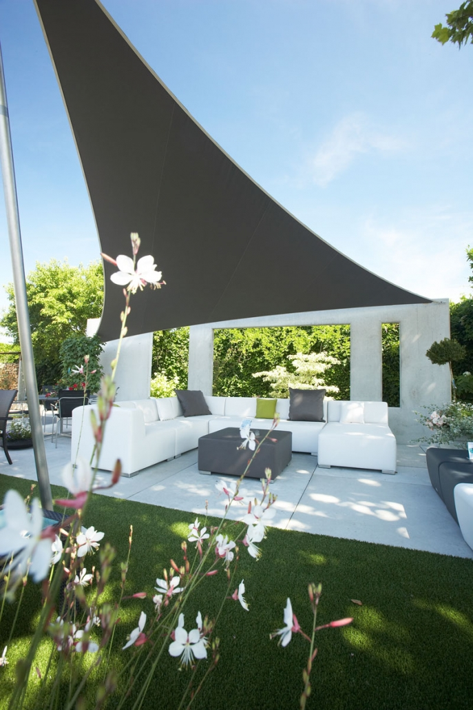 aerosun® 180 3-Punkt-Sonnensegel wasserdicht & sturmsicher