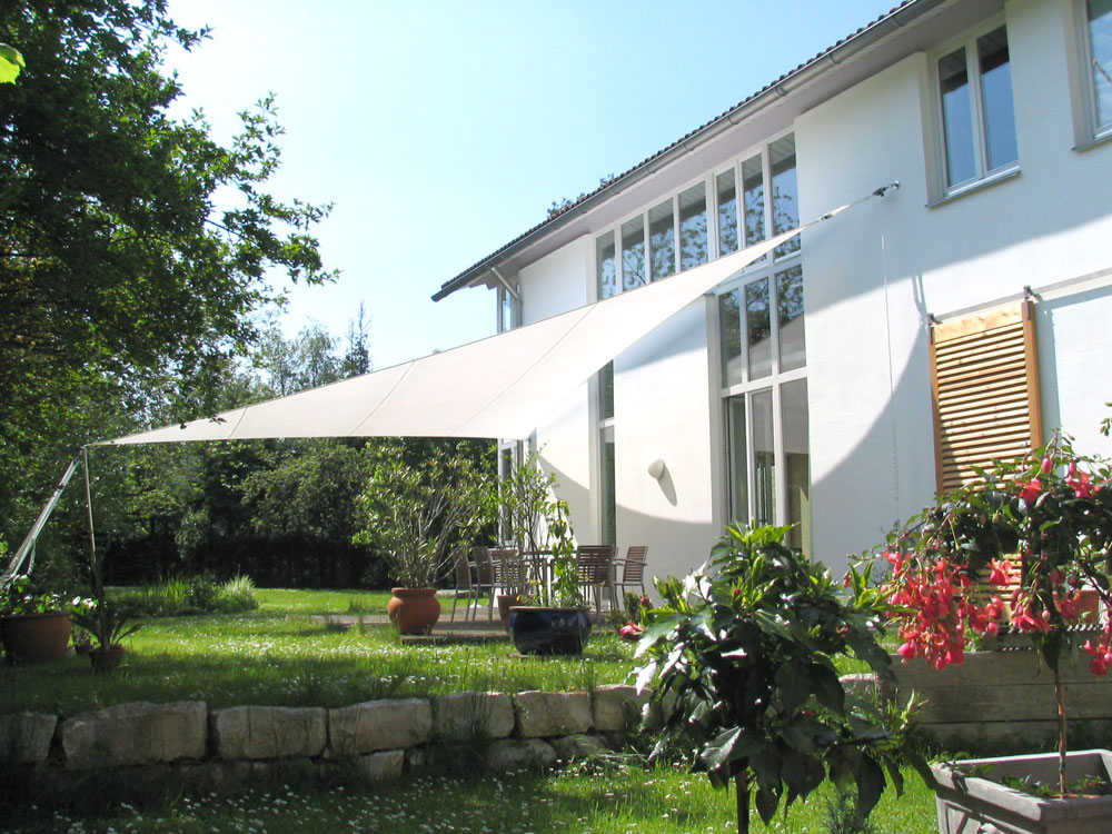 sun shading system, sun sail, mady in germany
