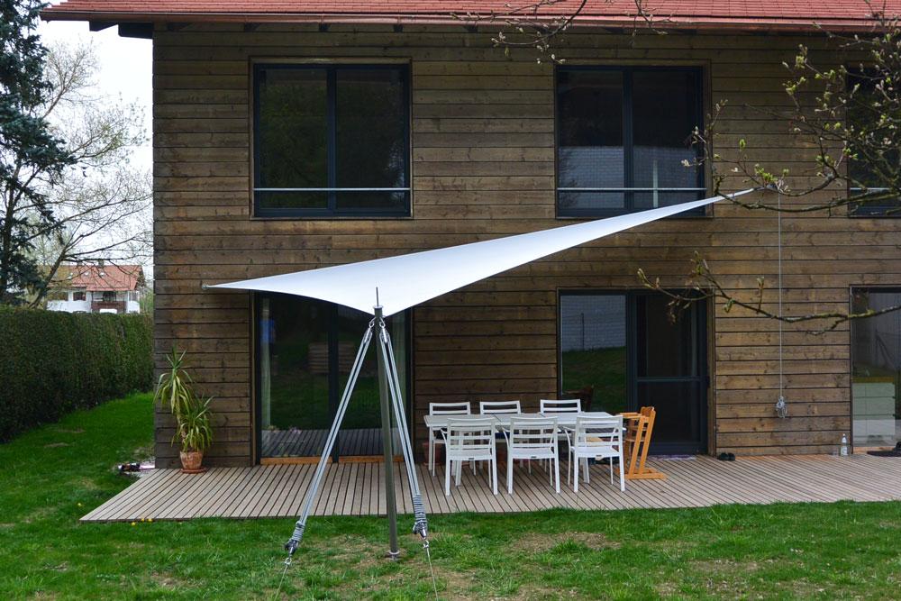 aerosun 180 3-Punkt-Sonnensegel, wasserdicht und sturmsicher