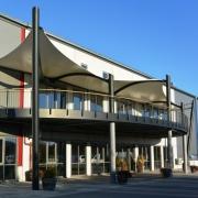 aeronautec Membranbau Dachterrasse Überdachung Firmengelände Gastonomiebereich, inkl. Statik, Wetterschutz für Holzterrasse