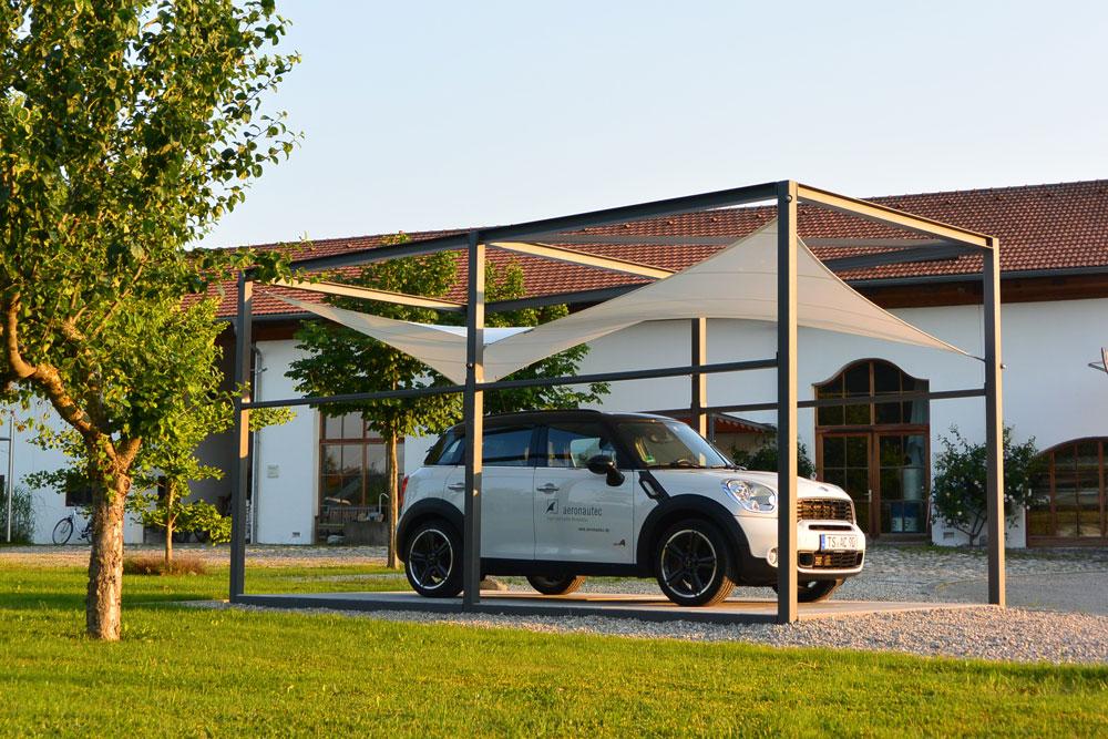 aerosun® Kubus, Wetterschutz und Sonnenschutz als Carport