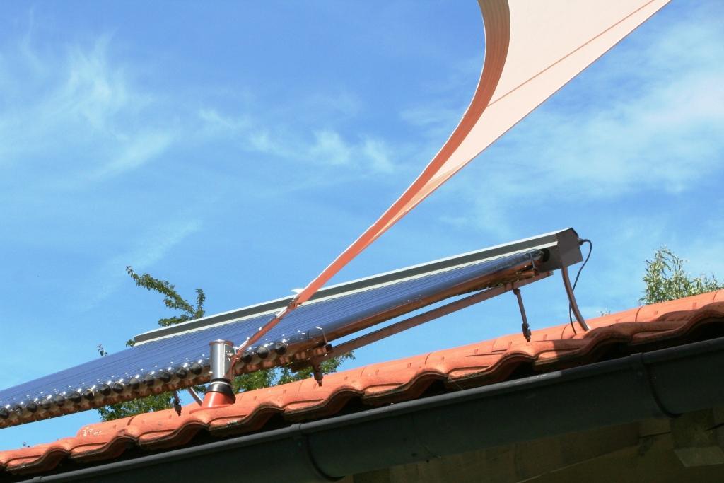aeronautec- Dachdurchführung Edelstahlmast für Sonnensegelaufnahme