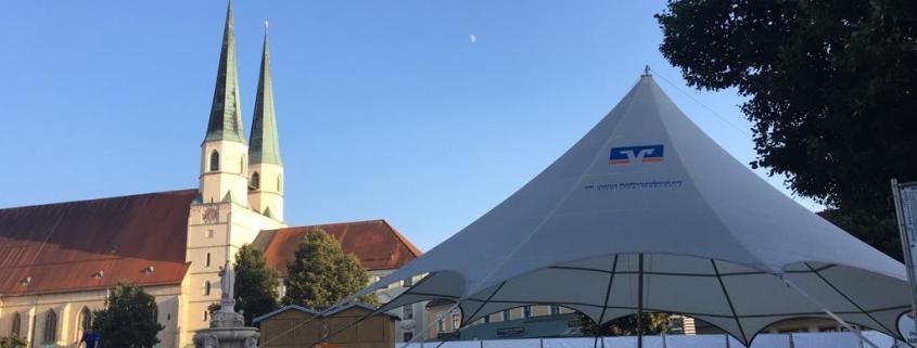 aeronautec Eventschirm für Raiffeisenbank