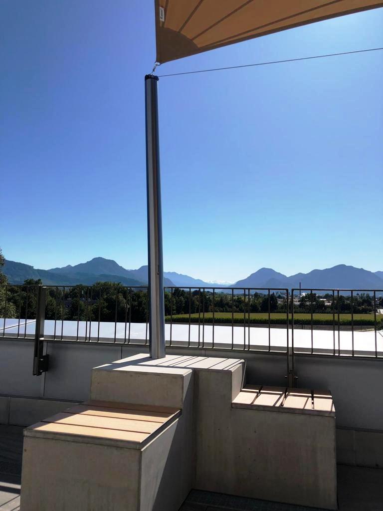aerosun® Rollsegel (Sun Furl System) Firmenlounge, elektrisch