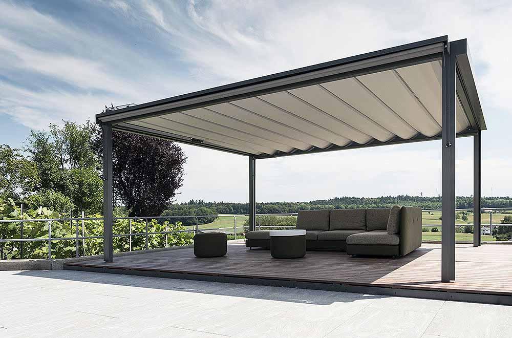 Pergola Reffmembrane - unterschiedliche Konstruktionen als Sonneschutz, Regenschutz, Windschutz und Sichtschutz