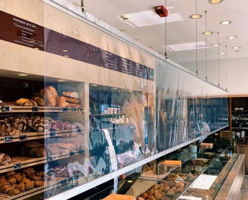 utec_ProMed_Bäckerei Stumhofer, covid, Spuckschutz Theke, Kassenbereich