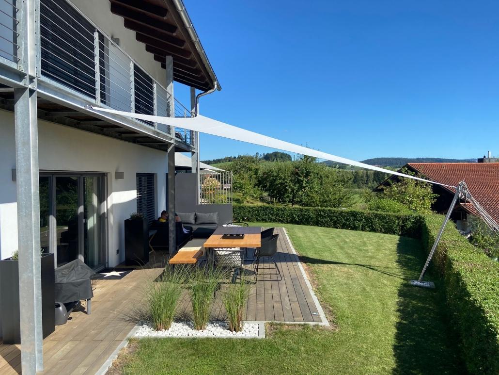 aerosun® 180 3-Punkt-Sonnensegel | wasserdicht & sturmsicher, Schatten auf der Terrasse, Dreieck, exklusiv