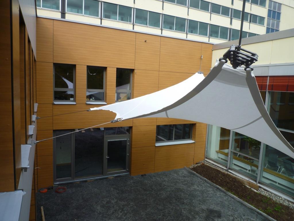 aerosun® 365 Innenhofüberdachung, Objektbau Innenhofüberdachung
