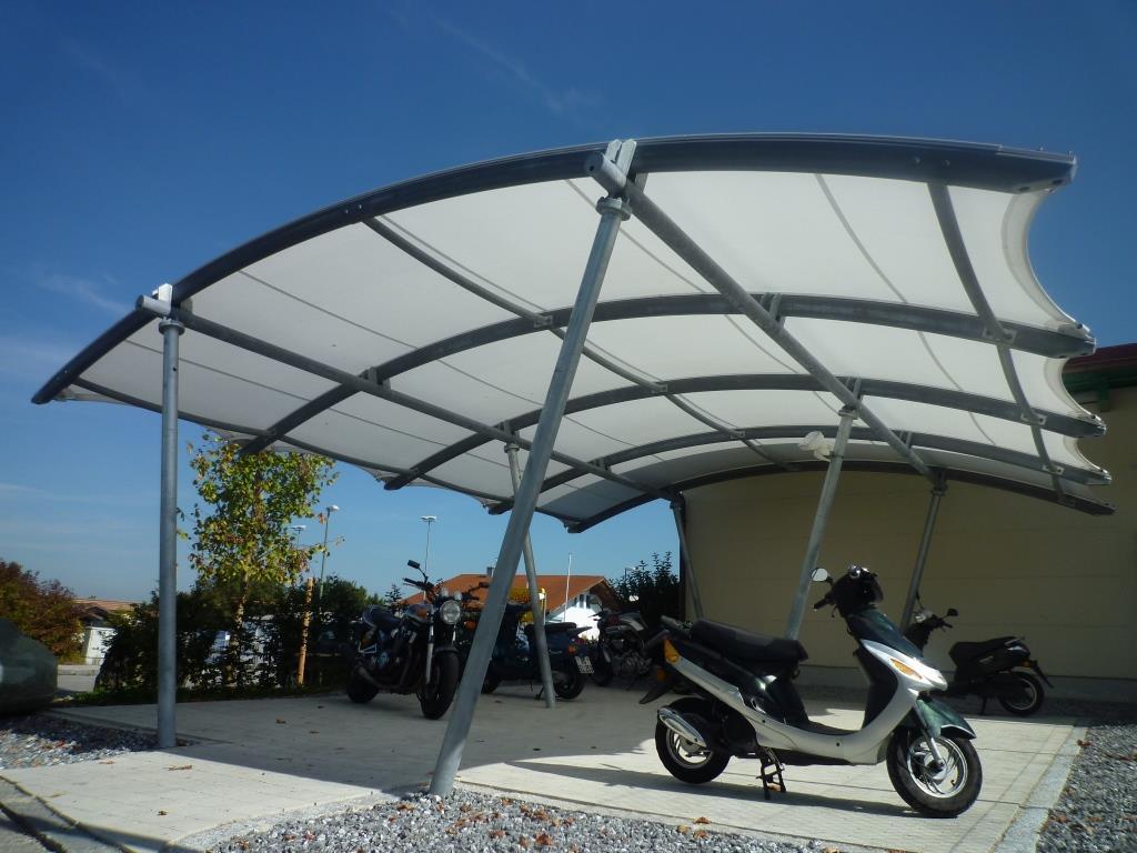 aerosun® 365 Innenhofüberdachung, Objektbau Fahrradüberdachung